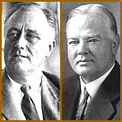 a comparison of franklin roosevelt and herbert hoover